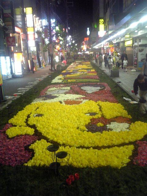078)花の絨毯