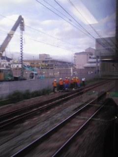 rail078)JR神戸線上り新快速立ち往生