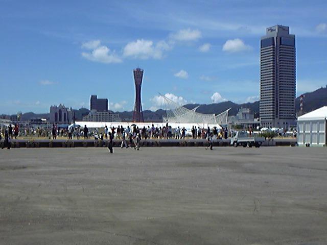 078)新港第一突堤にビーチできてる、なう。